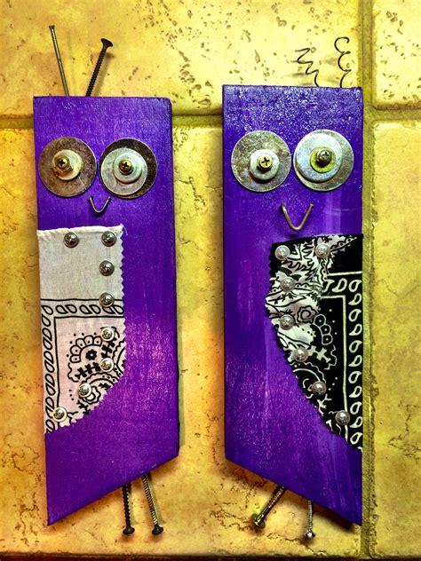 owl art   pallet wood  junk hardware scott
