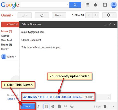 How To Send A Video Files By Email Using Gmail Mail Account