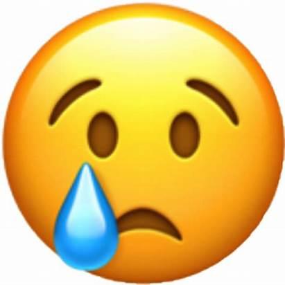 Emoji Sad Whatsapp Emoticon Crying Face Transparent