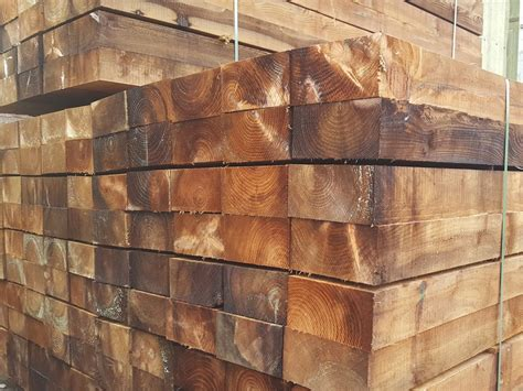 Softwood Sleepers by Landscaping New Reclaimed Railway Sleepers