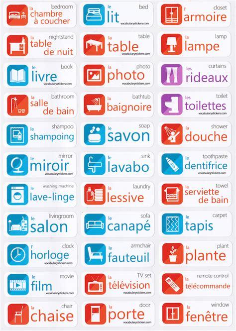 french language stickers vocabularystickers