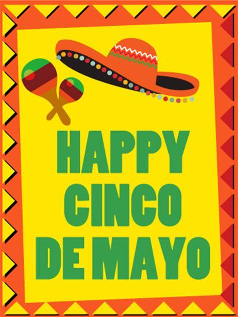 cinco de mayo mexican hat card birthday greeting cards