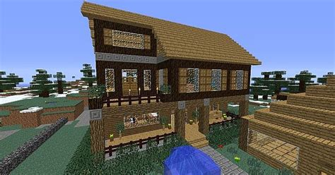 cabin  porch minecraft project