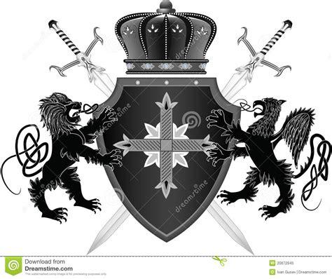 medieval board stock vector illustration  cross lily