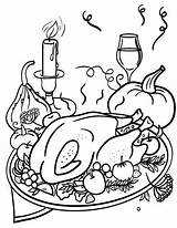 Coloring Dinner Thanksgiving Pages Printable Pdf Coloringcafe Sheet Books Disney Preschool Club sketch template