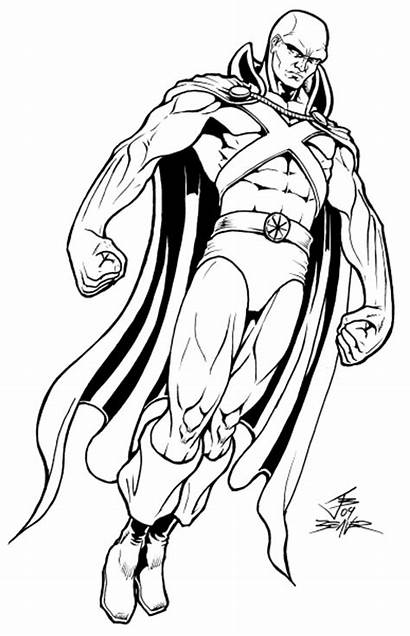 Martian Manhunter Coloring Pages Justice League Dc