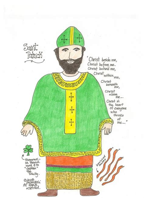 Saint patrick religious coloring pages with st day color s saint kateri tekakwitha coloring page 29 best Religious Coloring Pages images on Pinterest ...