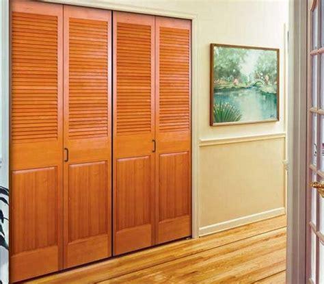 Solid Wood Closet Doors by Solid Wood Louvered Closet Doors Design Interior Home Decor