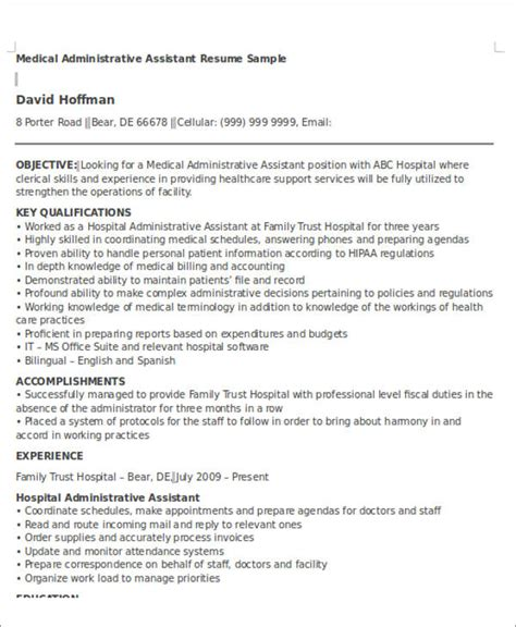 Administrative Assistant Resume Objective by Administrative Assistant Resume Objective 6 Exles In