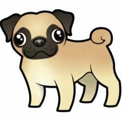 Cute Cartoon Pug Dogs
