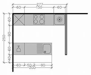 267245 8 plans de cuisine en disposition parallele face a With plan cuisine en parallele