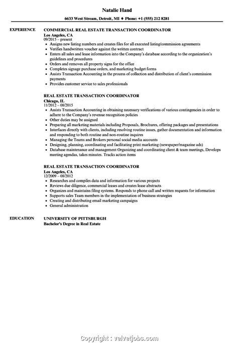 Coordinator Resume by Transaction Coordinator Resume Vvengelbert Nl