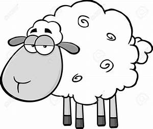 Cartoon Sheep Drawing - Drawing Sketch Picture