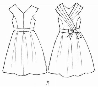 Simple Sketches Drawing Dresses Very Easy Creative