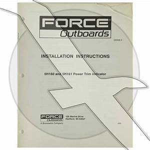 Force Outboard 5h160 5h161 Power Trim Indicator