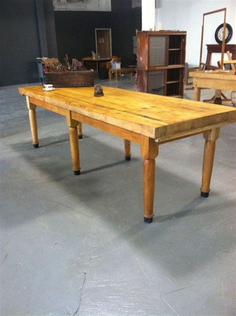 butcher block by the foot 9 foot butcher block bakers table made from solid maple