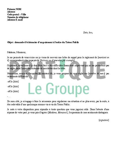 modele lettre exoneration taxe amenagement lettre de demande d 233 ch 233 ancier au tr 233 sor pratique fr