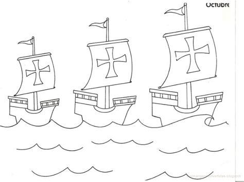 Las Tres Carabelas De Cristobal Colon Para Colorear by Las Tres Carabelas De Cristobal Colon Para Colorear