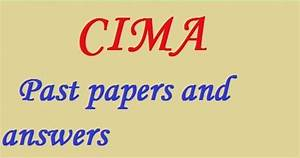 Cima Past Papers And Answers