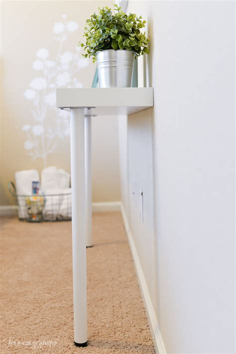 ikea desk legs hack simple ikea hack narrow console table hey let s make stuff