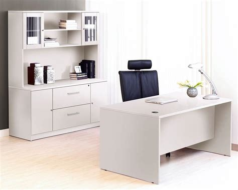 executive desk white modern executive desk plus credenza with hutch in white