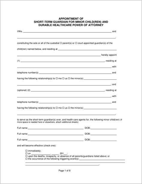 Temporary Will Form Hunthankkco
