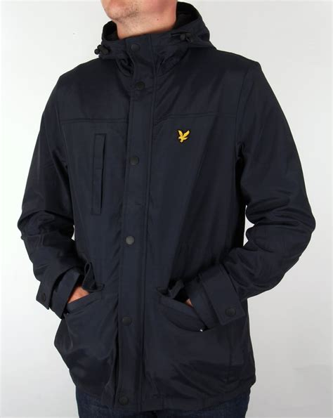 lyle  scott microfleece lined jacket navyparkacoatmens