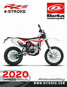 Beta Owners Manual Guide Book 2020 Rr