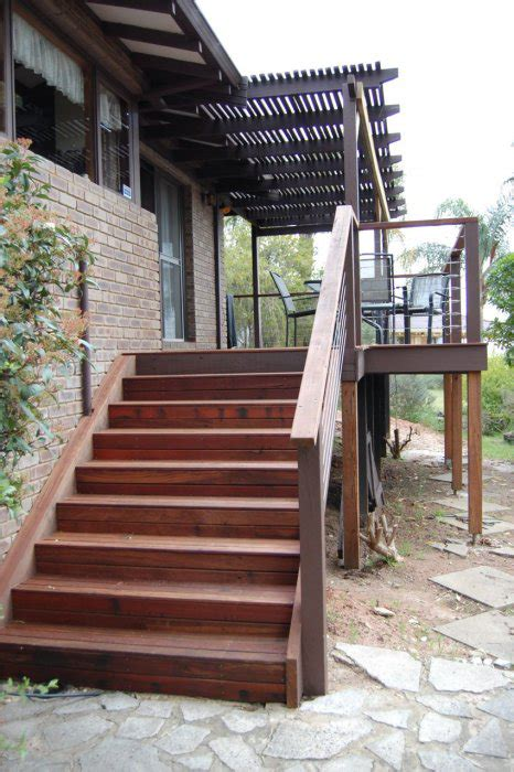 timber stairs deck steps external wa timber decking