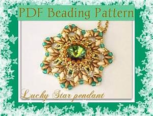 Diy Beading Pattern Lucky Star Pendant With Superduo Beads