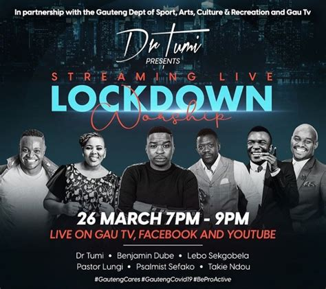 Music is an agreeable harmony for the honor of god. Dr Tumi, Benjamin Dube, Lebo Sekbogela & More To Live ...