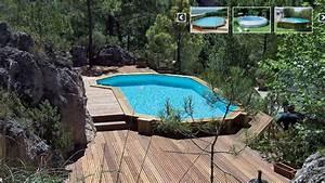Piscine Bois Ronde : piscine hors sol bois ronde agrandir une piscine hors sol en bois avec abri piscine hors sol ~ Farleysfitness.com Idées de Décoration