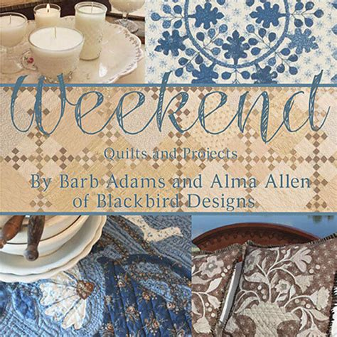 weekend quilts projects blackbird designs new book rug hooking cross stitch ebay