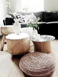 Tisch Aus Baumstamm Coole Mbelstcke Von Der Natur