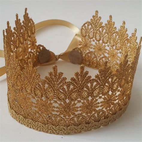 Gold Lace Crown By Rouge Pony | notonthehighstreet.com