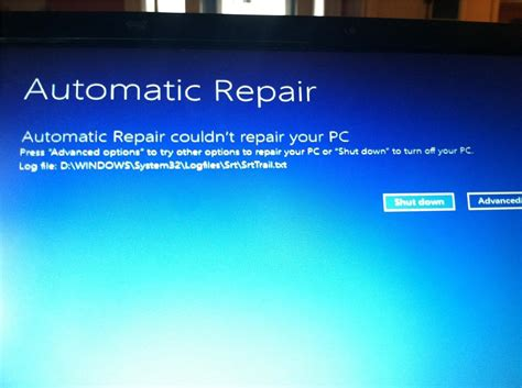 error automatic repair couldn t repair your pc