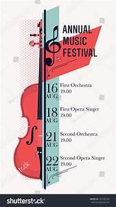 Beautiful Modern Classical Music Festival Poster Stock ...