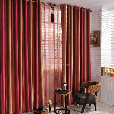 Red Sunset Scenery Striped Colored Living Room Blackout