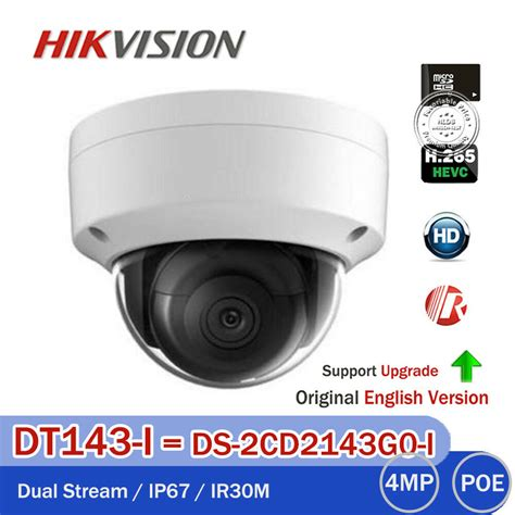 hikvision 4mp original ds 2cd2142fwd i 3 axis hd dome network 2 8mm ebay