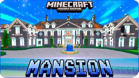 minecraft pe maps huge mansion house map