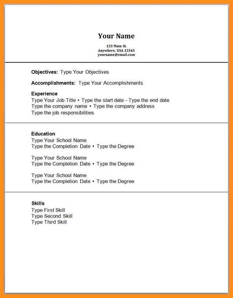 12 Work Experience Resume Template Agenda Example