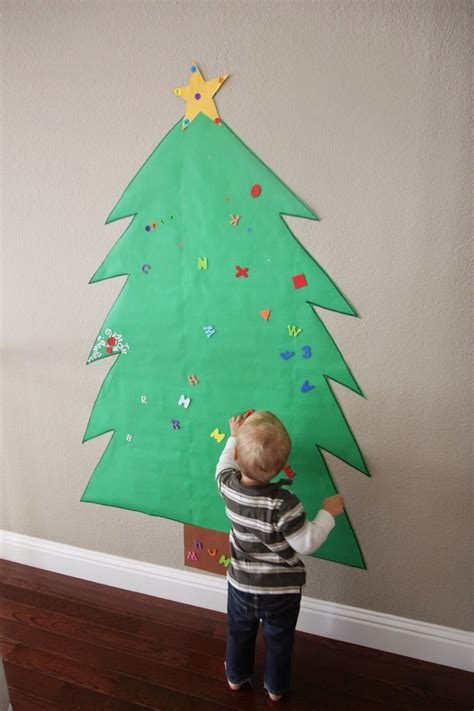 diy  alternative christmas trees safe  toddlers
