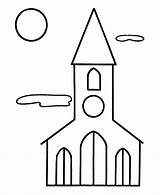 Coloring Pages Christmas Church Printable Religious Easy Toddlers Pre Simple Children Printables Bible Building Buildings Xmas Sunday Young Comment Jesus sketch template