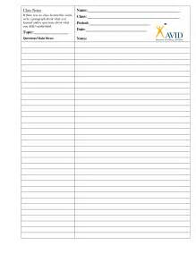 Blank Cornell Notes Printable