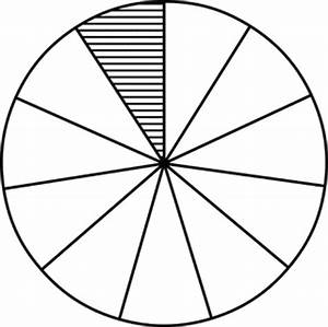 Fraction Pie Divided Into Elevenths Clipart Etc