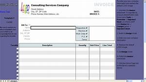 Download courier invoice format excel rabitahnet for Invoice for consulting services