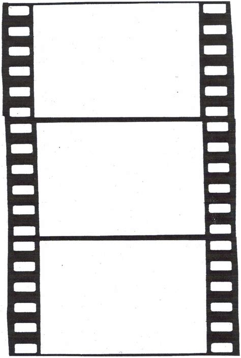 Templates Film by Blank Film Strip Template Clipart Best