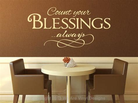 Blessings Home Decor: Christian Wall Decal. Count Your Blessings By