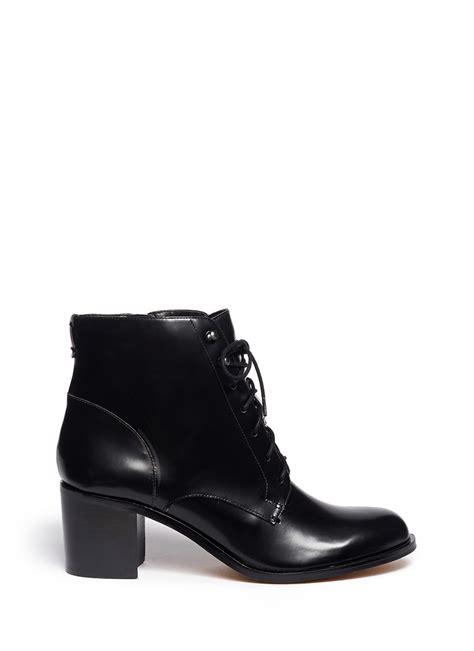 sam edelman jardin lace  leather boots  black lyst
