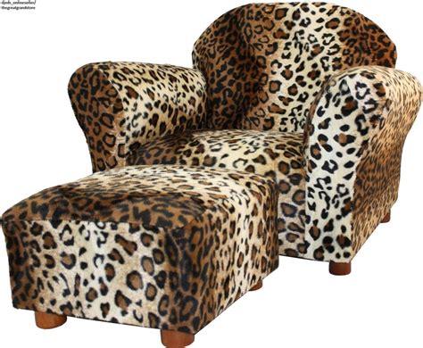 leopard print accent chair ottoman set kid child living
